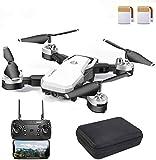 EANMANM 48 Minuten WiFi FPV Drohne faltbar mit 1080P Kamera HD Live Übertragung ,RC Drone Quadrocopter mit Höhe-halten,App Steuerung, Kopflos-Modus für...