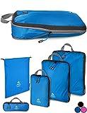 Outdoor Panda Ultraleichte Packtaschen mit Kompression - Wasserabweisende Packwürfel für Rucksack und Koffer - Compression Packing Cubes als Gepäck Organizer...