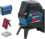 Bosch Professional Kreuzlinienlaser GCL 2-15 (roter Laser, Innenbereich, mit Lotpunkten, Arbeitsbereich: 15 m, 3x AA Batterien, Drehhalterung RM 1,...