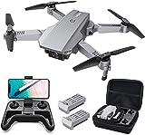 Tomzon D25 4K Drohne mit Kamera Faltbare FPV Drohne für Erwachsene, 2 Akkus, Lichtpositionierung, Handgestenfotografie, Bahnflug, 3D Flip, Fotofilter,...
