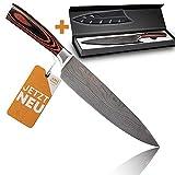 Kochmesser extrem scharf - Küchenmesser besonders handlich dank Pakkaholz - Japanisches Messer einzigartig - Profi Knife ideal als Allzweckmesser &...