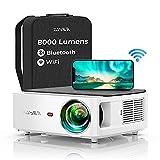YABER WiFi Bluetooth 5G Beamer 8000 Lumen Full HD 1080P Heimkino Beamer, mit 4-Punkt Trapezkorrektur, Support 4k&50% Zoom,PPT Präsentation Beamer kompatibel...