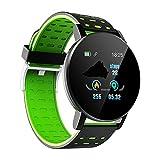 QWERT 119S Intelligente UhrBluetooth-Headset binaural mit Ladefach True Wireless Stereo Multi-Sport-Modus Sport-SchrittzäHler Smart Watch Smartwatch Fitness...