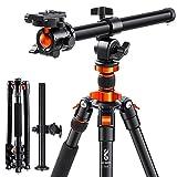 K&F Concept Kamera Stativ, 200CM/78inch Stativ mit 90° Mittelsäulen Einbeinsativ-Funktion, 360° Kugelkopf und 1/4'' Gewinde Stativ für DSLR-Kamera