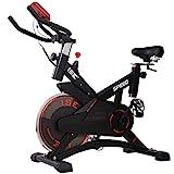 ISE Profi Indoor Cycle Ergometer Heimtrainer,10kg Schwungrad,mit Pulsmesser, LCD Anzeige,Armauflage,gepolsterte