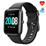 Smartwatch, LIFEBEE Fitness Armband Fitness Tracker Voller Touch Screen Smart Watch IP68 Wasserdicht Fitness Uhr mit Pulsuhren Schrittzähler Damen Herren...