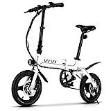 VIVI Elektrofahrrad E Bike E Klapprad, 14/26 Zoll Pedelec Elektrisches Fahrrad 350W Citybike mit Herausnehmbarer 36V 7,8Ah/8Ah Batterie, E Bike Herren Damen