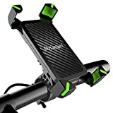 Fahrrad Handyhalterung, Universelle Fahrrad & Motorrad Lenkerhalter für Smartphones bis zu 6,5'' (16,5 CM), 360° Drehbare Verstellbare Telefonhalterung,...