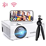 Mini Beamer, VicTsing WiFi Beamer Full HD 4000 Lumen Bluetooth LED Projektor, 1080P HD 170 '' Display 50000 Stunden, Wireless Video Beamer Kompatibel mit...