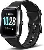 Letsfit Smartwatch, Sportuhr Touchscreen Fitnessuhr IP68 Wasserdicht Fitness Armbanduhr Schrittzähler Uhr mit Pulsmesser Schlafmonitor, Smart Watch für Damen...