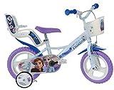 Frozen Kinderfahrrad Eiskönigin Mädchenfahrrad – 14 Zoll | TÜV geprüft | Original Disney Lizenz | Kinderrad mit Stützrädern, Puppensitz und Fahrradkorb...