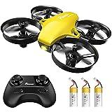 Potensic Mini Drohne für Kinder und Anfänger mit 3 Akkus, RC Quadrocopter, Minidrohne Ferngesteuert mit Höhehalten, Start/Landung mit einem Knopf, Kopflos...