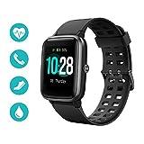 Huyeta Smart Watch mit Pulsmesser 1,3 Touchscreen Sport Uhr Smart Uhr 5ATM Wasserdicht Fitness Tracker Aktivitätstracker Pulsuhren mit Kalorienzähler...