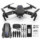 12shage E525 Faltbare Drohne mit Kamera HD 1080P,Hindernisvermeidung in 4 Richtungen, 15 Minuten Flugzeit,Handy Steuerung,HD-Videoübertragung,360° Flip...