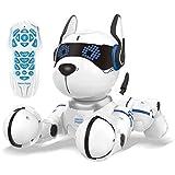 Lexibook DOG01 Power Puppy-My Programmable Smart Dog-Programmierbarer Roboter mit Fernsteuerung, Tanz, Yoga, Trainingsfunktion, Gesang