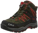 CMP Unisex-Kinder Kids Rigel Mid Shoe Wp Trekking- & Wanderstiefel, Grün (Loden-Ferrari 05fd), 30 EU
