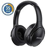 Noise Cancelling Kopfhörer, Mpow H19 IPO Bluetooth 5.0 Kabellos Kopfhörer Over Ear mit 35 Std, Schnellladen Mikrofon CVC 8.0, HiFi & Weiche Ohrenschützer,...