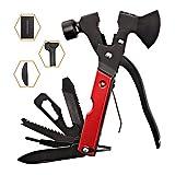 Survival Kit, Messer and Axt, Multifunktionswerkzeug 18-in-1 Multitoolaus Edelstahl Tragbar Hammer Jagdzubehör für Camping, Wandern, Notfall, Geschenke für...