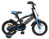 amiGO BMX Fun - Kinderfahrrad - 12 Zoll - Jungen - mit Rücktritt und Stützräder - ab 3 Jahre - Schwarz/Blau