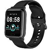 ASWEE Smartwatch - Fitness Tracker mit Blutdruckmessung Fitness Armbanduhr mit Pulsuhr Schlafmonitor IP67 Wasserdicht Sportuhr Schrittzähler für Android und...