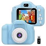 GlobalCrown Kinder Kamera,Mini wiederaufladbare Kinder Digitalkamera Stoßfeste Video Camcorder Geschenke für 3-8 Jahre Jungen Mädchen,8MP HD Video 2 Zoll...