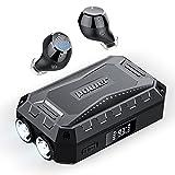 [2021 Neu] Bluetooth 5.1 Kopfhörer, ORSNOG In Ear Kopfhörer Kabellos mit Taschenlampe, 3-Port 2600mAh Ladegehäuse mit LED Anzeige, IPX7 Wasserdicht, Hi-Fi...