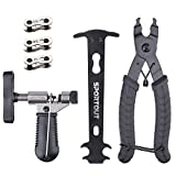Sportout Fahrrad Link Zange, Fahrrad Ketten Werkzeug, Fahrrad Kettenmesslehre, Fahrrad Reparatur Werkzeug Set, perfekt für Rennrad, Mountainbike, Citybike,...