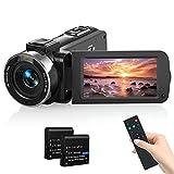Videokamera Camcorder, MELCAM 1080P 30FPS Vlogging Kamera Recorder für YouTube, FHD IR Nachtsicht Camcorder 3.0 '' IPS-Bildschirm 16X Digital Zoom...