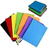 TOBWOLF dehnbare Buchumschläge mit Etiketten-Aufkleber, waschbar, langlebig, Schutzstoff, für Lehrbücher, bis zu 22,9 x 35,6 cm, solide sortiert, passend...