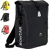 Rohtar 3in1 Fahrradtasche - wasserdicht & reflektierend - als Gepäckträgertasche, Umhängetasche & Rucksack einsetzbar - ideale Gepäcktasche fürs Fahrrad -...