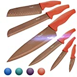 Wanbasion Messer Set für Köche Edelstahl, Küchenmesser Set Profi Messer, Scharfe Messer Set für Fleisch Schneiden