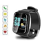 Sonkir Smartwatch mit 1.3' Colored Touchscreen, Pulsmesser, wasserdichtem IP67-Fitness-Tracker-Pedometer-Armband, kompatibel mit iPhone, Samsung, Huawei, Nexus,...
