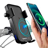 Easy-Life Handyhalterung mit powerbank für Fahrrad, Induktions-Ladegerät, handyhalter Roller, Motorrad, ATV. Telefonhalter mit Externer Batterie Induktion und...