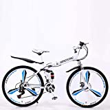 Chenbz Outdoor-Sport Mountainbike Falträder, 27Speed Doppelscheibenbremse Fully Antislip, leichten Alurahmen, Federgabel, Multiple Colors24 Zoll / 26...