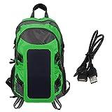 Fdit Solar Backpack Outdoor Wasserdichter Faltbarer Solarpanel-Rucksack Ladegerät Ausgang für Camping Wandern Angeln Reiten Ladung Smartphones, Powerbanks,...