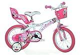 Minnie Maus Kinderfahrrad Mädchenfahrrad – 14 Zoll | Original Disney Lizenz | Kinderrad mit Stützrädern, Puppensitz und Fahrradkorb - Das Minnie Maus...