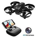 Potensic Mini Drohne mit Kamera Dual Akkus RC Quadrocopter Drohne 2.4Ghz FPV Live Übertragung Ferngesteuerte Drohne Spielzeug Drohne für Einsteiger...