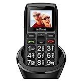 Seniorenhandy, Artfone Mobiltelefon Senioren-Handy Großtastenhandy ohne Vertrag mit großen Tasten 1,77 Zoll Farbdisplay Notruftaste Taschenlampe GSM Dual SIM...