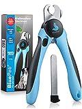 Bluepet® Krallenschere mit Schutz für Hunde & Katzen - Krallenschneider Krallenzange für Zuhause - Nagelschere auch für Kaninchen - Meerschweinchen & Nager...