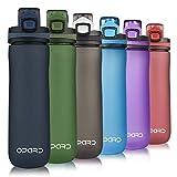 Opard Trinkflasche Sport 600ml - Wasserflasche aus Tritan, BPA-Frei, auslaufsichere Sportflasche, Water Bottle mit Sieb - Mit 1 klick öffnen - für Kinder,...
