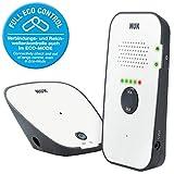 NUK Eco Control 500 Digitales Audio Babyphone, frei von hochfrequenter Strahlung im Eco-Mode, Gegensprechfunktion, weiß