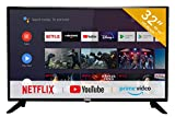 RCA RS32H2 Smart Fernseher(32 Zoll HD Android Fernseher mit Google Assistant,Google Play Store,Prime Video,Netflix) HDMI,USB,WiFi,Bluetooth,Triple...