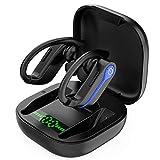 Bluetooth Kopfhörer Sport, Bass kopfhörer kabellos In Ear, 40H Spielzeit 5.1Bluetooth Kopfhörer In Ear, IPX7 Wasserdicht Wireless kopfhörer mit HD Mic,...