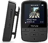 Victure Bluetooth MP3 Player 8GB Clip Mini Sport Tragbar Musik Player mit HiFi Verlustfreier, Sprachaufzeichnung, FM Radio, Unterstützt bis 128GB Micro sd...