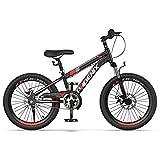ZXQZ Kinder Hardtail Mountainbike, 18 '' / 20 '' Rennräder mit Scheibenbremse, für Outdoor-Sportarten (Size : 18'')