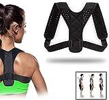 QUNPON Haltungskorrektur für Männer und Frauen, verstellbare obere Rückenstütze zur Unterstützung des Schlüsselbeins und zur Schmerzlinderung von Nacken,...