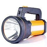 ALFLASH LED Handscheinwerfer 9000 Lumens Outdoor Led Taschenlampe 5 Model Tragbar Laterne Extrem Hell USB Wiederaufladbare CREE Akku Handlampe Arbeitsleuchte...