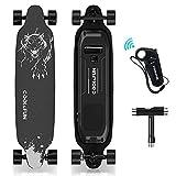 HOVERMAX Elektro Skateboard, 35,4x9 Zoll Elektrisches Longboard-Skateboard mit Fernbedienung, Geeignet für Erwachsene, Jugendliche und Anfänger, 400W...