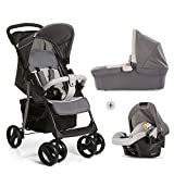 Hauck Kombi Kinderwagen Shopper SLX Trio Set / inkl. Baby Wanne mit Matratze / Reise System mit Autositz / Buggy mit Liegefunktion / bis 25 kg / Getränke...