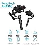 FeiyuTech AK4500 3-Achsen-Gimbal mit stabilisiertem Handheld für DSLR- und spiegellose Kameras und Kinokameras Kompatibel mit Sony Canon Nikon, Payload...